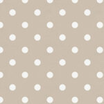 Taupe and White Small Polka Dot